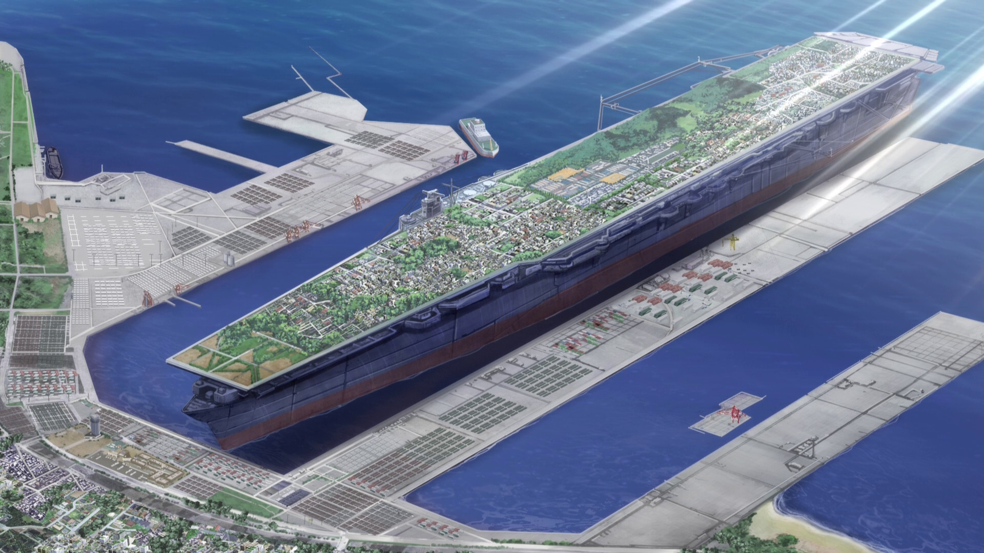 Quantifying the size of the aircraft carriers in Girls und Panzer
