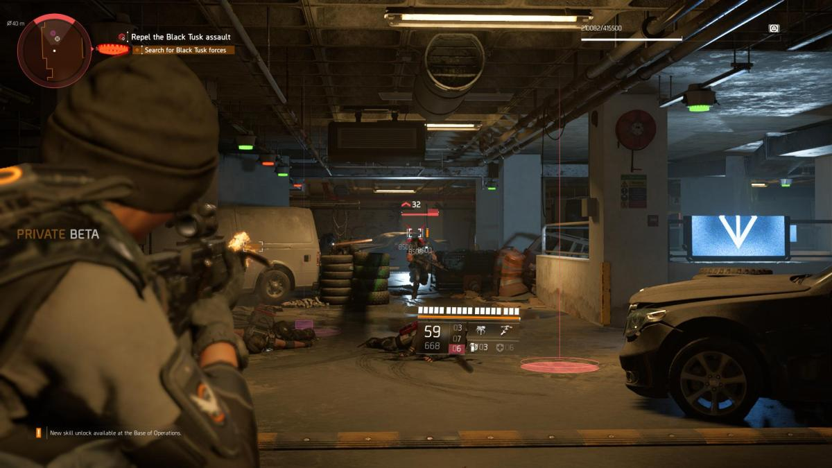Tom Clancy's The Division 2: Soloing the Black Tusks in the Endgame Invaded Mission during the Private Beta